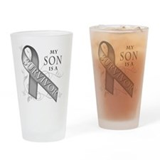 My Son is a Survivor (grey).png Drinking Glass