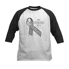 My Husband is a Survivor (grey).png Tee