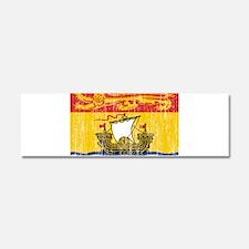 New Brunswick Flag Car Magnet 10 x 3
