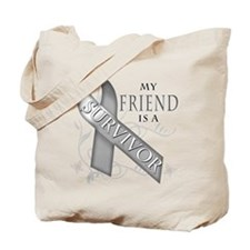 My Friend is a Survivor (grey).png Tote Bag