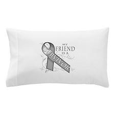 My Friend is a Survivor (grey).png Pillow Case