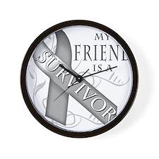 My Friend is a Survivor (grey).png Wall Clock