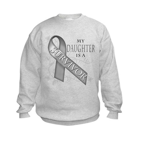 My Daughter is a Survivor (grey).png Kids Sweatshi