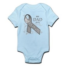 My Dad is a Survivor (grey).png Infant Bodysuit