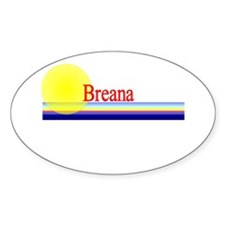 Breana Oval Decal