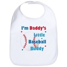 Daddys Little Baseball Buddy Bib