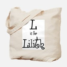 L Is For Lilith Tote Bag