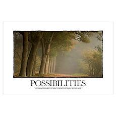 Inspirational Poster: Possibilities: Go confidentl Poster