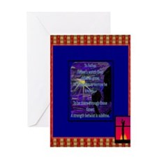To Father Golfer artistic poetic Greeting Cards
