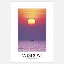 Inspirational Motivational Poster: Wisdom comes to