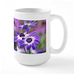 Purple and White Spring Flowers Large Mug
