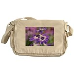 Purple and White Spring Flowers Messenger Bag