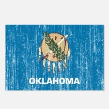 Oklahoma Flag Postcards (Package of 8)