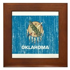 Oklahoma Flag Framed Tile