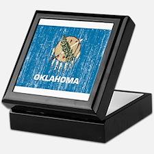 Oklahoma Flag Keepsake Box