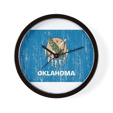 Oklahoma Flag Wall Clock