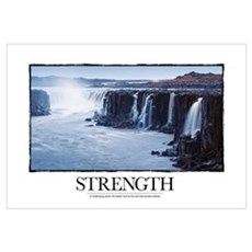 Inspirational Motivational Poster: In challenging  Framed Print