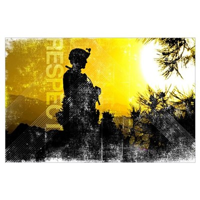 Motivational Grunge Poster: Respect. U.S. Army Ser Poster