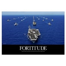 Motivational Poster: USS Ronald Reagan Framed Print
