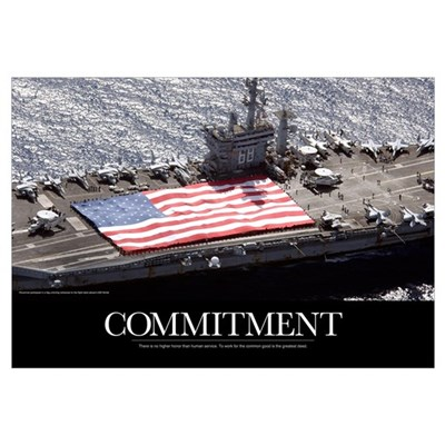 Motivational Poster: USS Nimitz Canvas Art