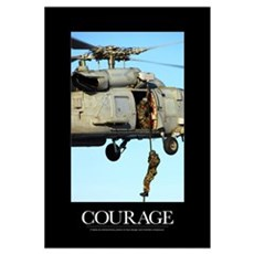 Motivational Poster: Courage Framed Print