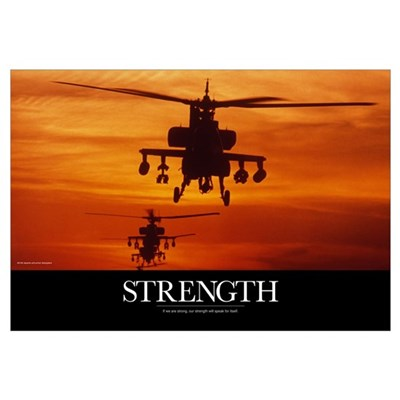 Military Poster: Four AH-64 Apache anti-armor heli Framed Print