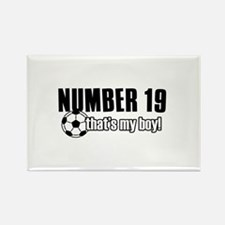 Proud soccer parent of number 19 Rectangle Magnet