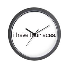 """""""I have four aces"""" Poker Wall Clock"""