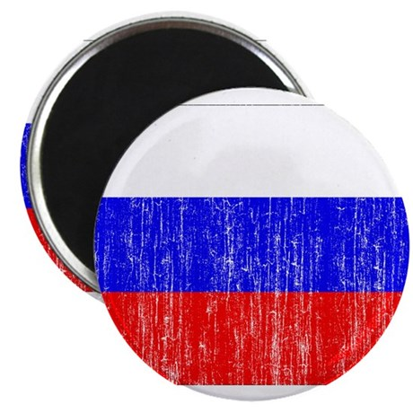 """Russia Flag 2.25"""" Magnet (100 pack)"""