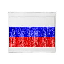 Russia Flag Throw Blanket