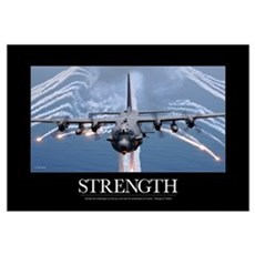 Military Motivational Poster: An AC-130H Gunship a Framed Print