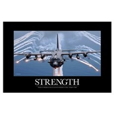 Military Motivational Poster: An AC-130H Gunship a Poster