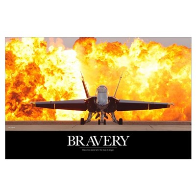 Military Motivational Poster: Brave Men Poster