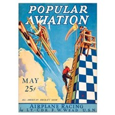 Popular Aviation Magazine Cover, May 1928 Poster