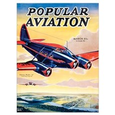 Popular Aviation Magazine Cover, March 1934 Poster