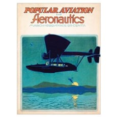 Popular Aviation Magazine Cover, March 1929 Poster