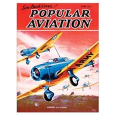 Popular Aviation Magazine Cover, June 1936 Poster