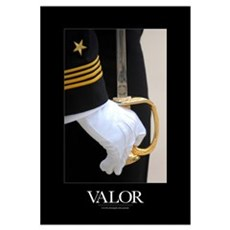 Military Poster: A U.S. Naval Academy midshipman s Canvas Art