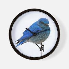 Mountain Blue Bird Wall Clock