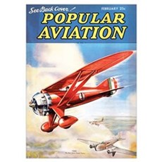 Popular Aviation Magazine Cover, February 1936 Poster