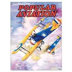 Popular Aviation Magazine Cover, August 1935 Poster