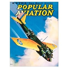 Popular Aviation Magazine Cover, August 1934 Poster