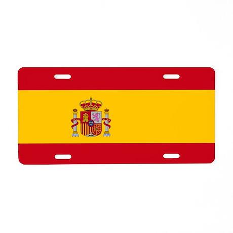 Spanish Flag Aluminum License Plate
