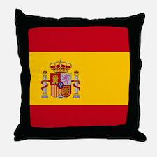 Spanish Flag Throw Pillow