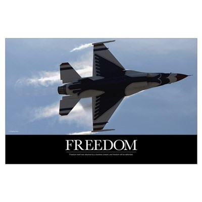 Air Force Poster: An F-16 Fighting Falcon pulls hi Poster
