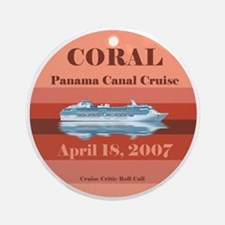 Coral Panama Canal 2007 Ornament (Round)
