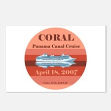 Coral Panama Canal 2007 Postcards (Package of 8)