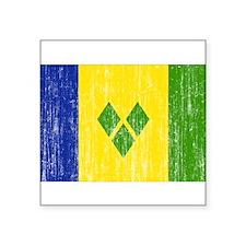 """Saint Vincent Flag Square Sticker 3"""" x 3"""""""