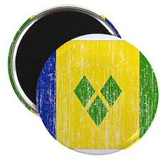 """Saint Vincent Flag 2.25"""" Magnet (10 pack)"""
