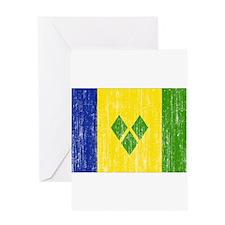 Saint Vincent Flag Greeting Card